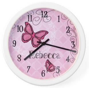 Butterfly Wall Clock - Free Shipping