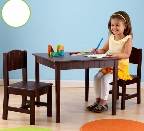 KidKraft Charleston Espresso Table and Chair Set