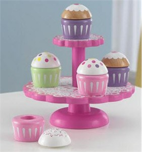 KidKraft Cupcake Stand Play Food Set