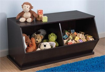 KidKraft Espresso Double Storage Unit