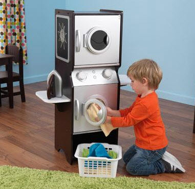 KidKraft Espresso Laundry Play Set