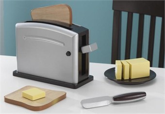 KidKraft Espresso Pretend Play Toaster Set