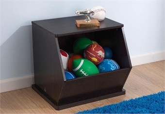 KidKraft Espresso Single Storage Unit