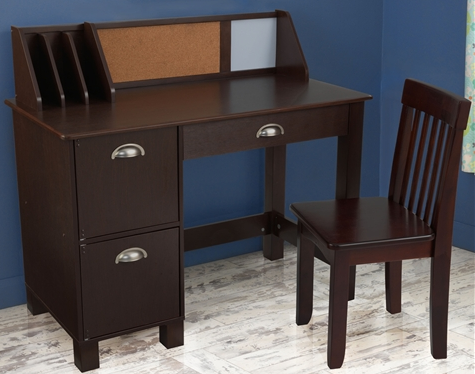 KidKraft Espresso Study Desk with Chair