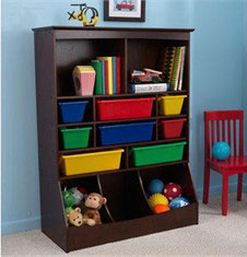 KidKraft Espresso Wall Storage Unit w/ Bins
