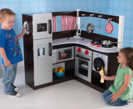 KidKraft Grand Espresso Corner Kitchen