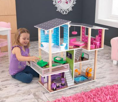 Modern Living Dollhouse - Free Shipping