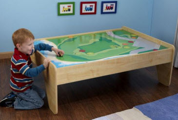 KidKraft Natural Train Table