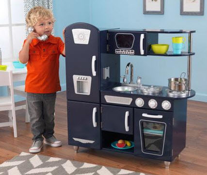 Navy Vintange Kitchen - Free Shipping