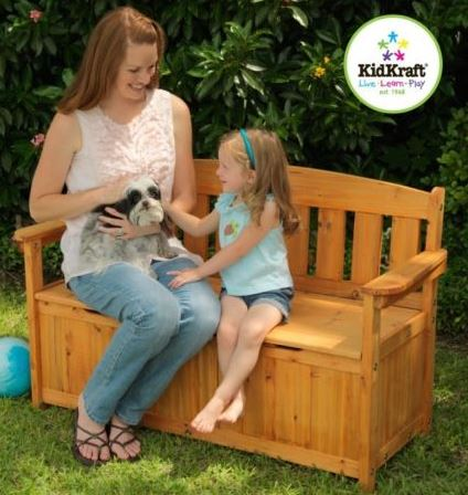 KidKraft Outdoor Storage Bench - Free Shipping