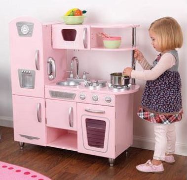 Pink Vintage Kitchen - Free Shipping