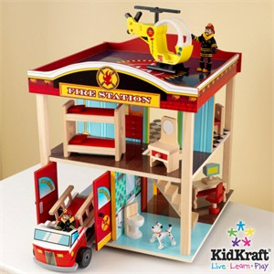 KidKraft Pretend Play Fire Station Set - Out of Stock