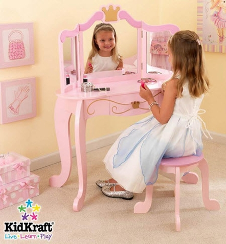 KidKraft Princess Vanity Table and Stool Set