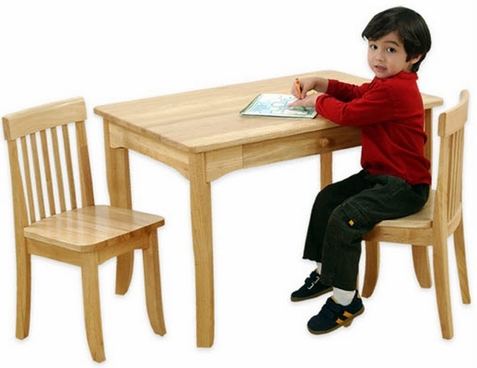 KidKraft Rectangle Avalon Table and Chair Set in Natural
