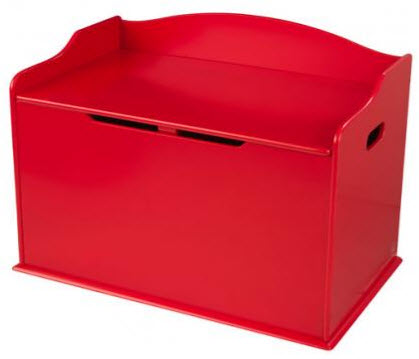 KidKraft Red Austin Toy Box