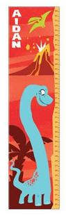 Red Dinosaur Growth Chart - Free Shipping