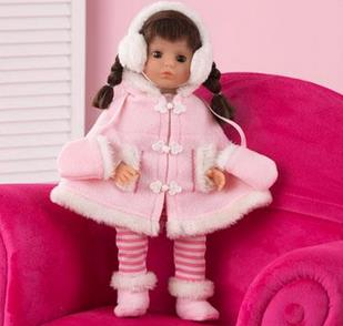 "Sadie 18"" Brunette Doll - Free Shipping"