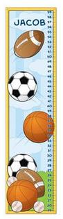Sports Growth Chart - Free Shipping