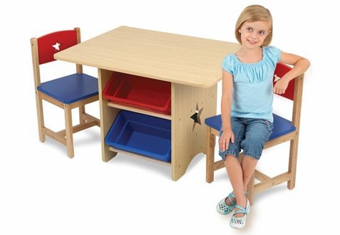KidKraft Star Table and Chair Set with Storage
