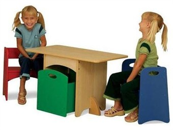KidKraft Table with Primary Benches and Storage Bin - Out of Stock