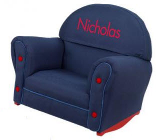 KidKraft Upholstered Denim Rocking Chair