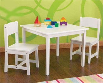 KidKraft White Aspen Square Table & Chairs Set
