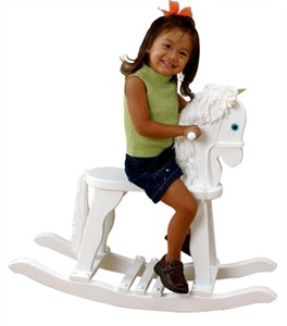 KidKraft White Derby Rocking Horse