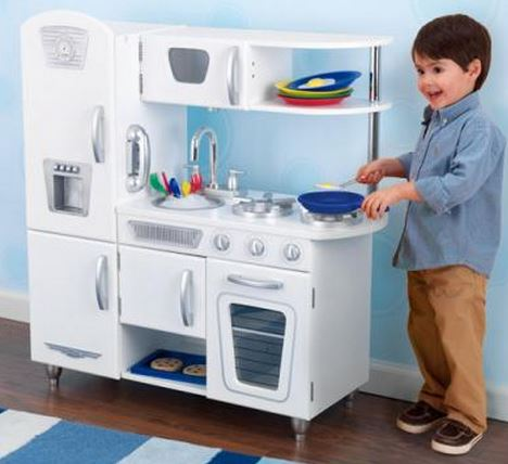 White Vintage Play Kitchen - Free Shipping