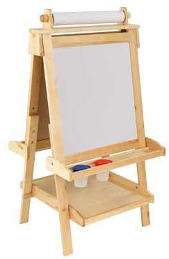 KidKraft Wooden Easel in Natural - Out of Stock