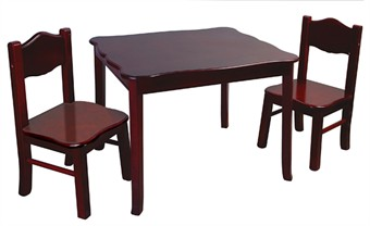Kids Classic Espresso Table & Chairs Set
