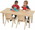 ECR4Kids Kids Rectangular Resin Activity Table
