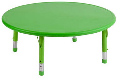 ECR4Kids Kids Round Resin Activity Table