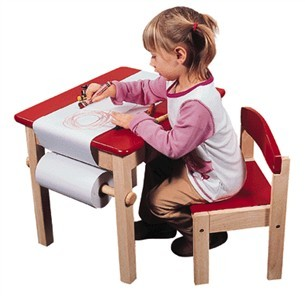 Kids Wooden Art Table & Chair Set - Out of Stock