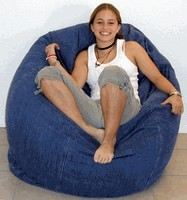 King Beany Large Denim Bean Bag
