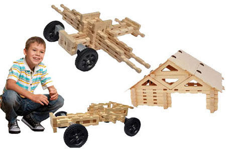 King Construction Wooden Toy Set