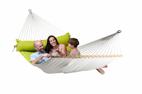 La Siesta Kingsize Hammock with Spreader Bars Alabama Avocado