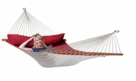 La Siesta Kingsize Hammock with Spreader Bars Alabama Red Pepper