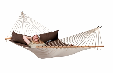 Kingsize Hammock with Spreader Bars Arabica - Free Shipping