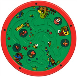 Lady Bug Lane Round Wall Activity Maze