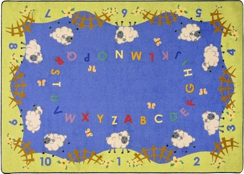 Lamby Pie Childrens Rug 5'4 x 7'8 Rectangle