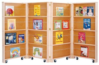 Large Mobile Library Bookcase - Free Shipping