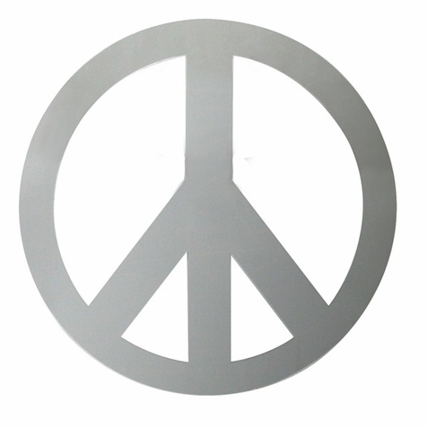 Large Peace Sign Peel & Stick Mirror