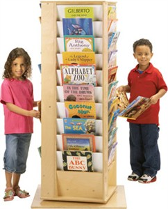 Jonti-Craft Large Revolving Literacy Tower