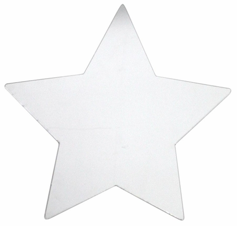 Large Star Peel Stick Mirror