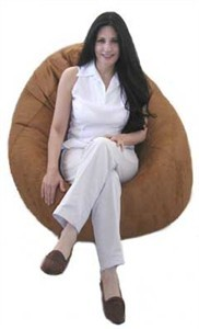 King Beany Large Ultra Suede Bean Bag