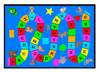 Learn with Charlie Alphabet & Numbers Carpet 5' x 8'