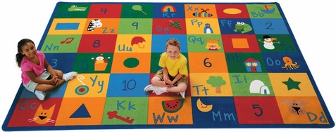 Learning Blocks Classroom Rug - Free Shipping