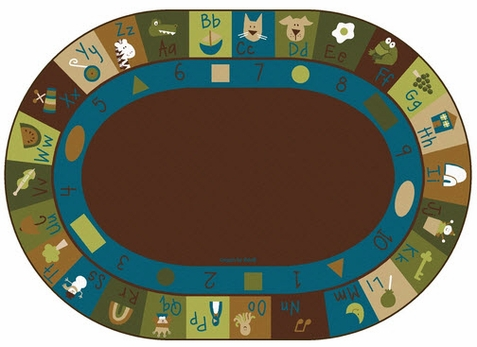 Learning Blocks Nature Rug 8'3 x 11'8 Oval