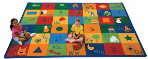 Learning Blocks Rug Factory Second 5'10 x 8'4