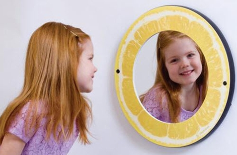Lemon Theme Waiting Area Mirror